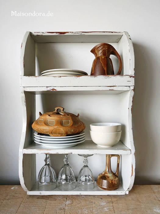 Uraltes landhaus wandbord küchen regal shabby weiss von ...