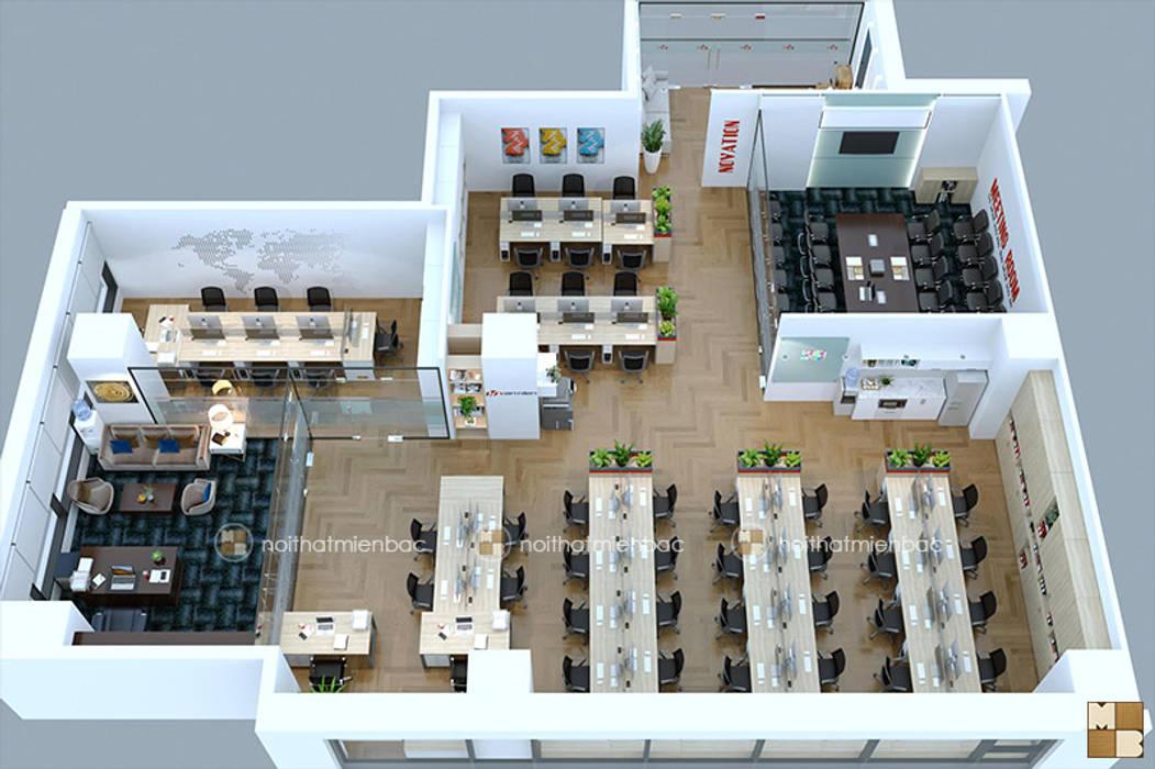 Tổng quan văn phòng Vạn Niên bởi Công ty CP nội thất Miền Bắc Hiện đại