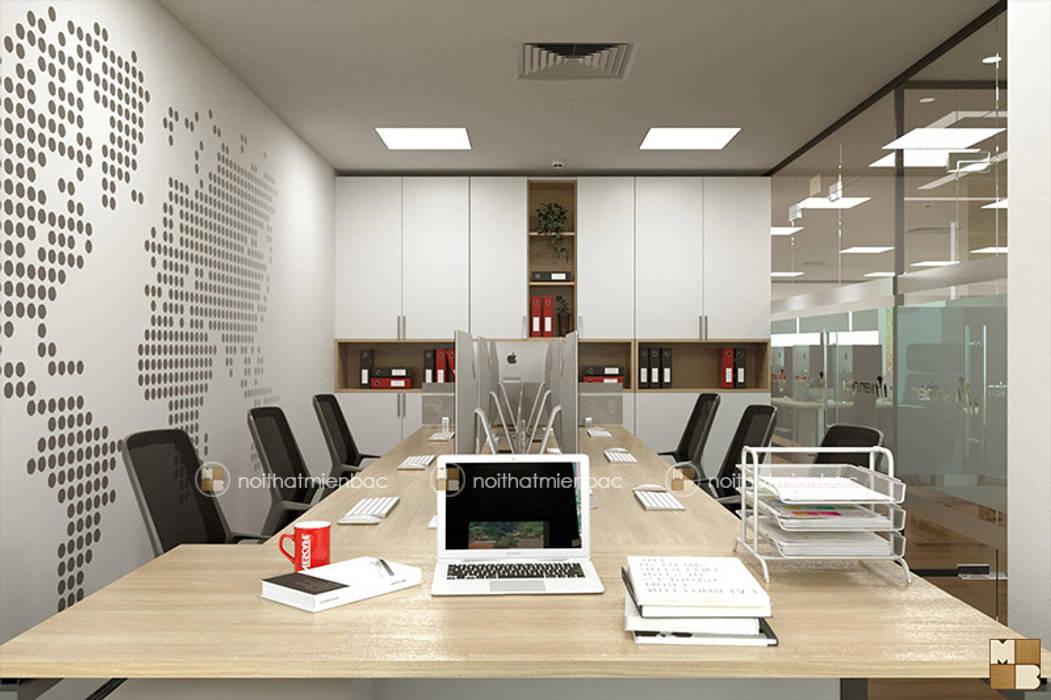 Phòng kế toán - View2 bởi Công ty CP nội thất Miền Bắc Hiện đại