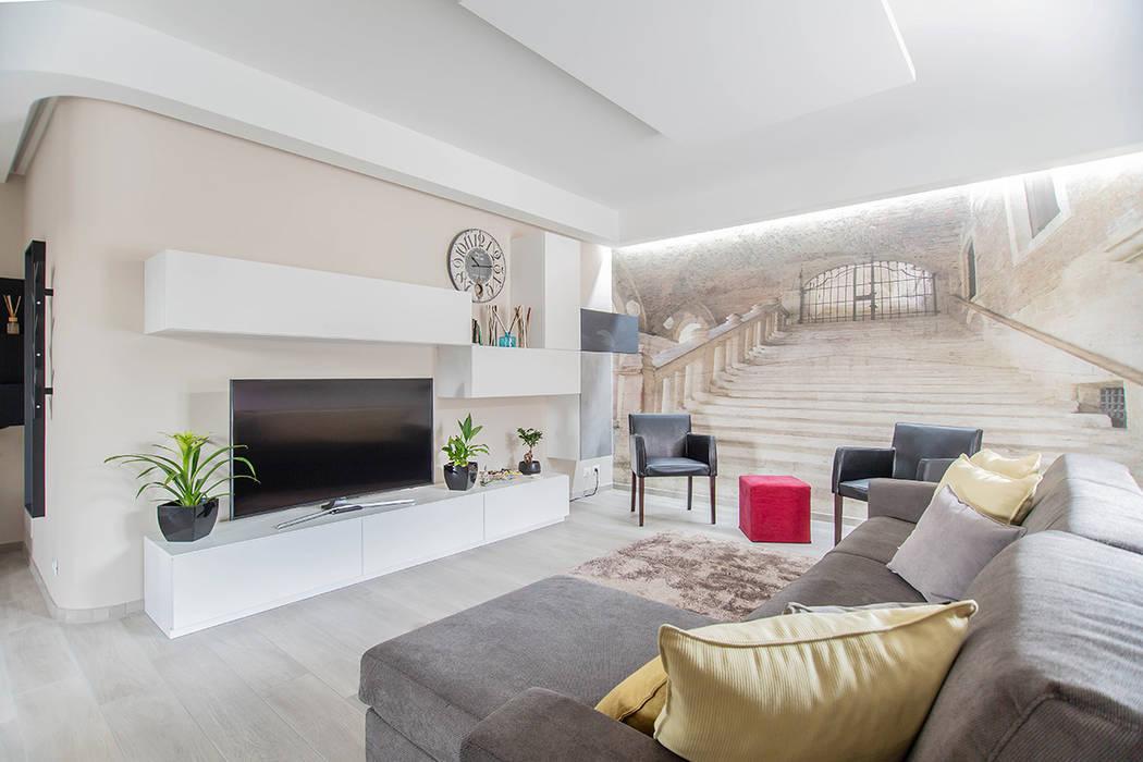Ristrutturazione appartamento di 100 mq a Bariano, Bergamo Facile Ristrutturare Soggiorno moderno