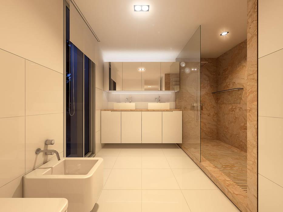 Interiores casa de banho suite: Casas de banho  por martimsousaemelo