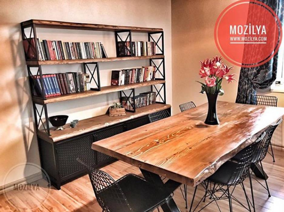 Mozilya Mobilya – Irony Konsol ve Kütüphane Ünitesi:  tarz Yemek Odası