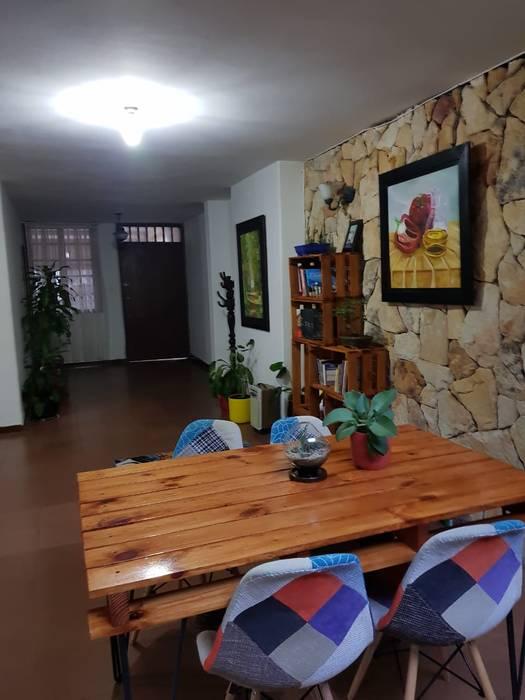 Mesa de Comedor Industrial London de Arte Eco Decoraciones Rústico Madera Acabado en madera