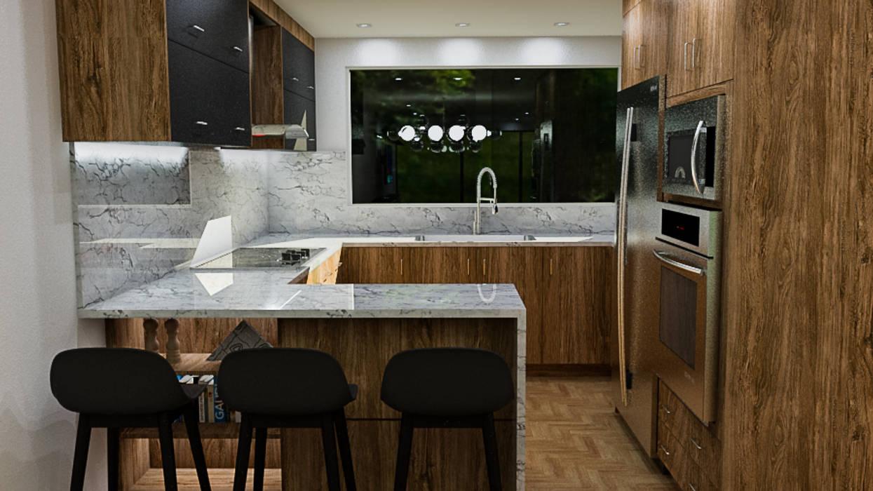 Cocina: Cocinas pequeñas de estilo  por Sixty9 3D Design,