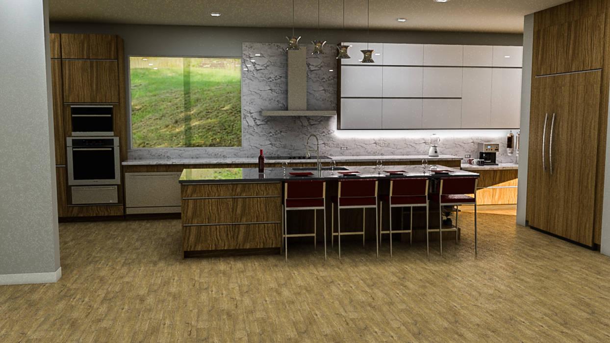 Sixty9 3D Design 置入式廚房 Wood effect