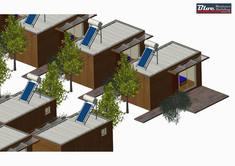 Integrado em complexo Turistico por BLOC - Casas Modulares Moderno