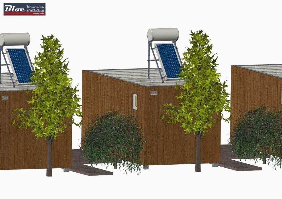 Vista por trás por BLOC - Casas Modulares Moderno