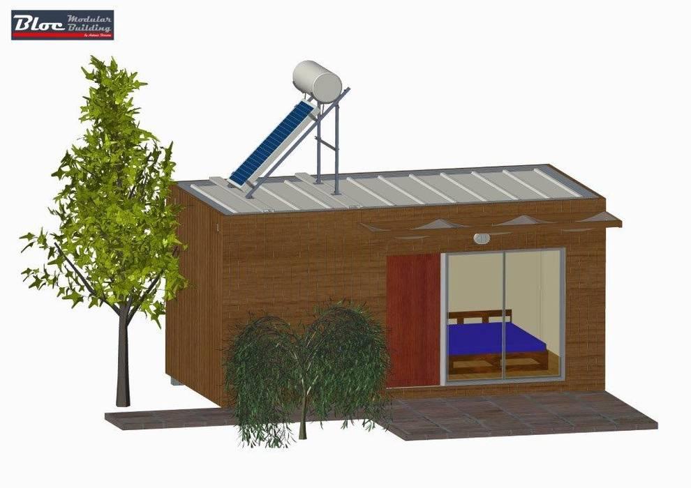 Vista de frente:   por BLOC - Casas Modulares,