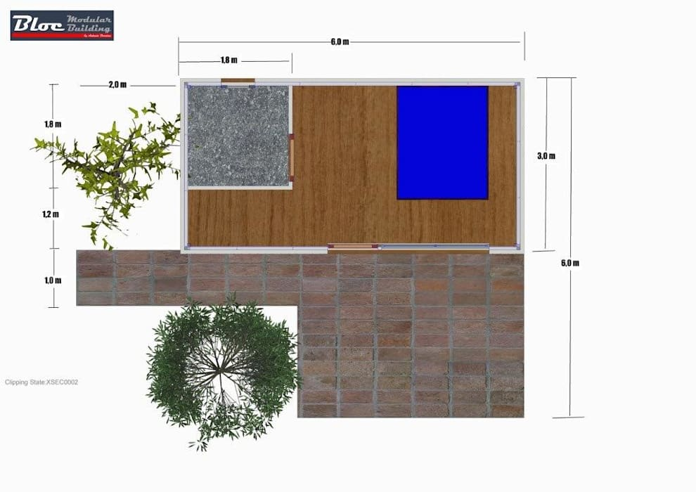 Planta por BLOC - Casas Modulares Moderno