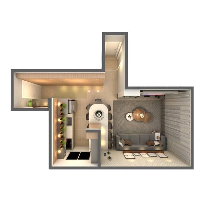 Ruang Keluarga oleh Revisite, Modern