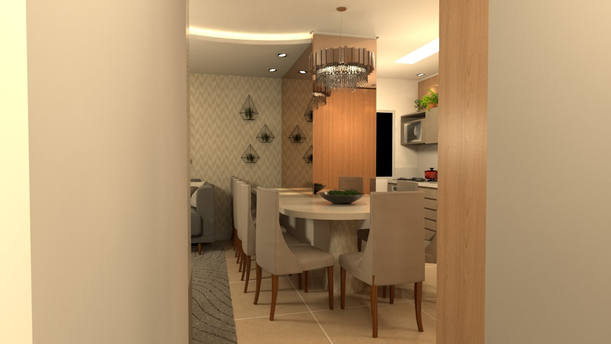 Sala de jantar: Salas de jantar  por Revisite,Moderno