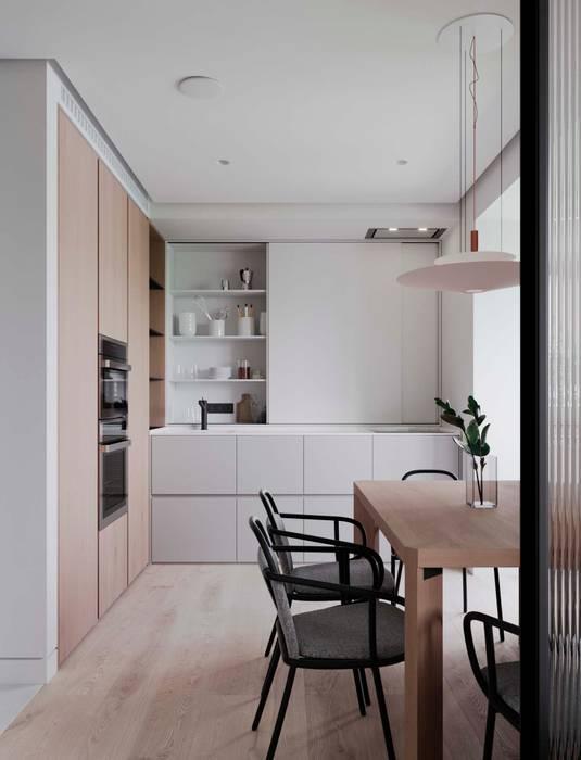 Renders diseño de cocina minimalista : de estilo de proyecto 3d ...