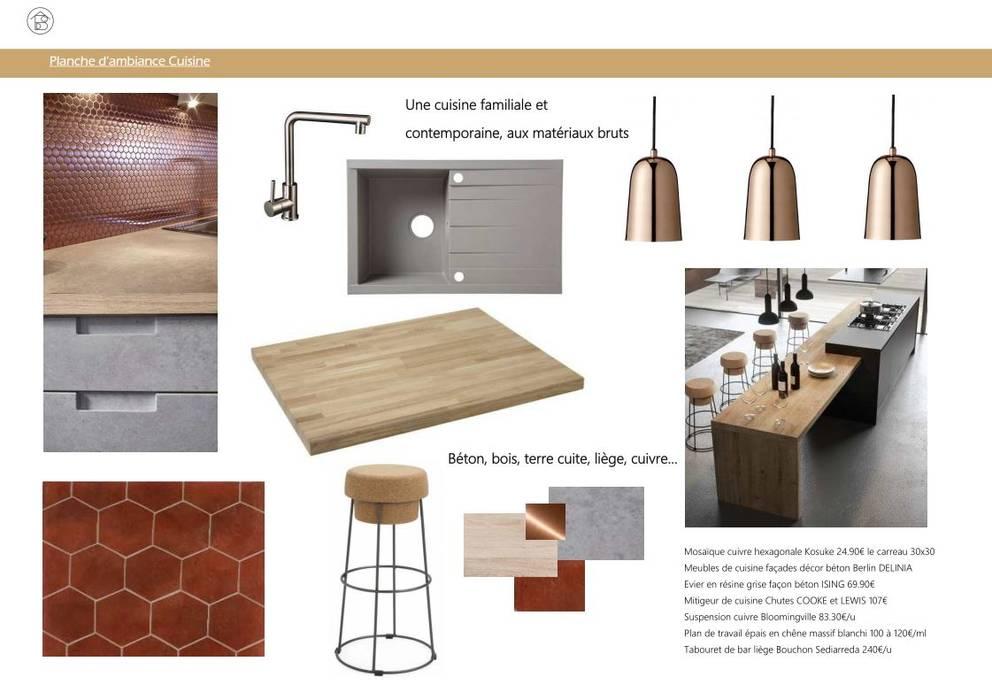 Réaménagement Maison de Campagne - Planche ambiance Cuisine ABCD MAISON MaisonAccessoires & décoration