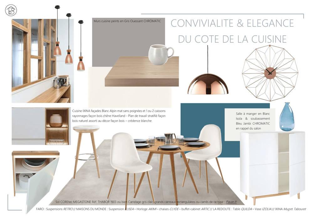 Choix décoratifs pour un projet de construction ABCD MAISON Salle à mangerAccessoires & décorations
