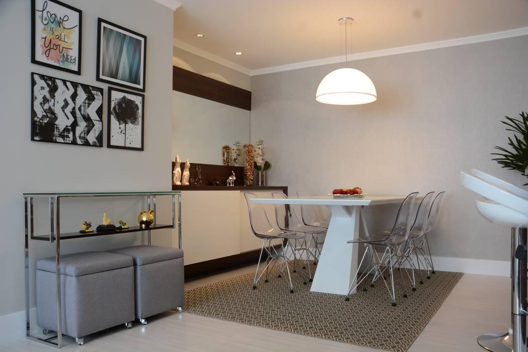 Apartamento LUS Salas de jantar modernas por Bloco Z Arquitetura Moderno