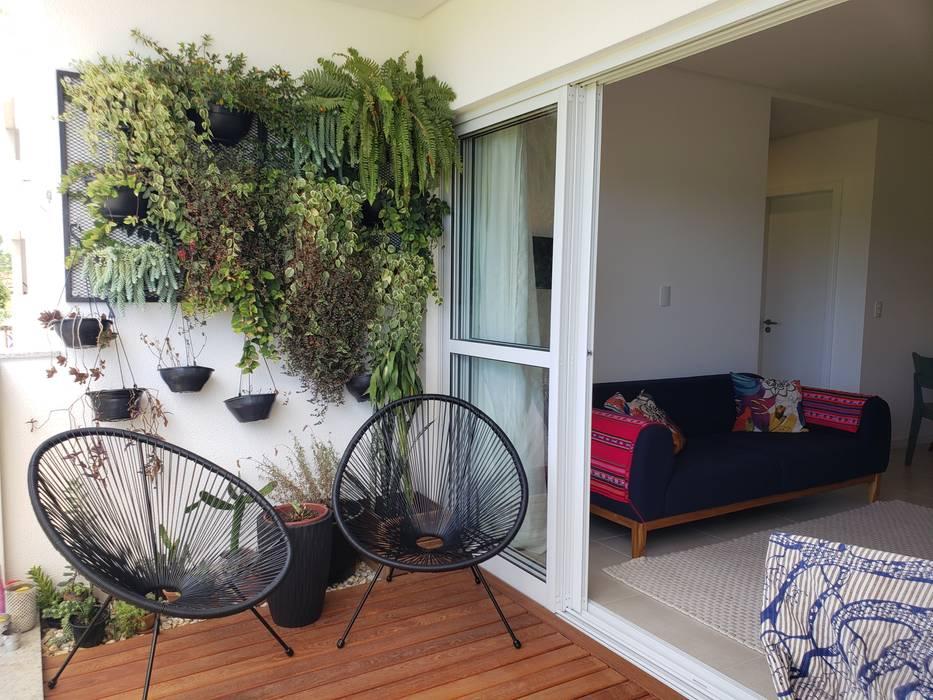 Apartamento PLM: Varandas  por Bloco Z Arquitetura,Moderno