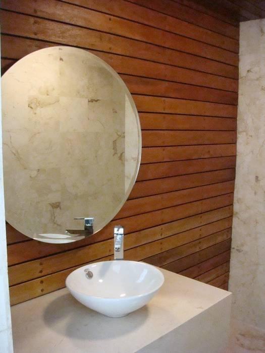 LAVAMANOS Baños minimalistas de UG ARQUITECTOS Minimalista Madera Acabado en madera
