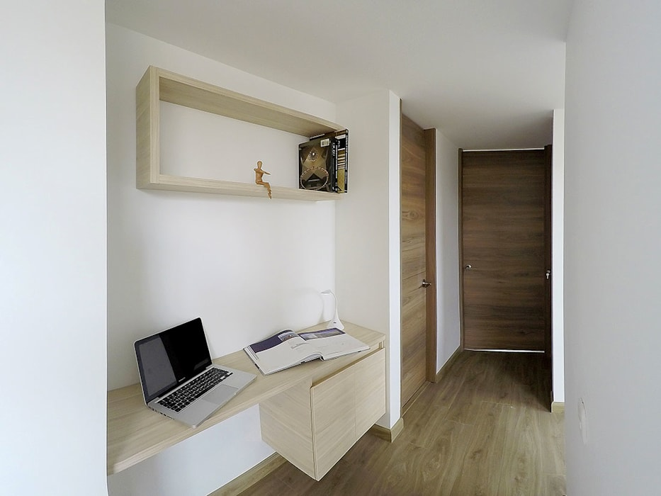 apartamento en Chia-Cundinamarca Estudios y despachos de estilo moderno de TikTAK ARQUITECTOS Moderno