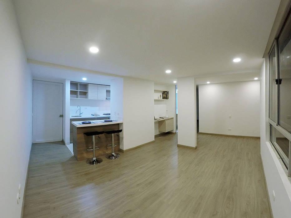 apartamento en Chia-Cundinamarca Habitaciones modernas de TikTAK ARQUITECTOS Moderno