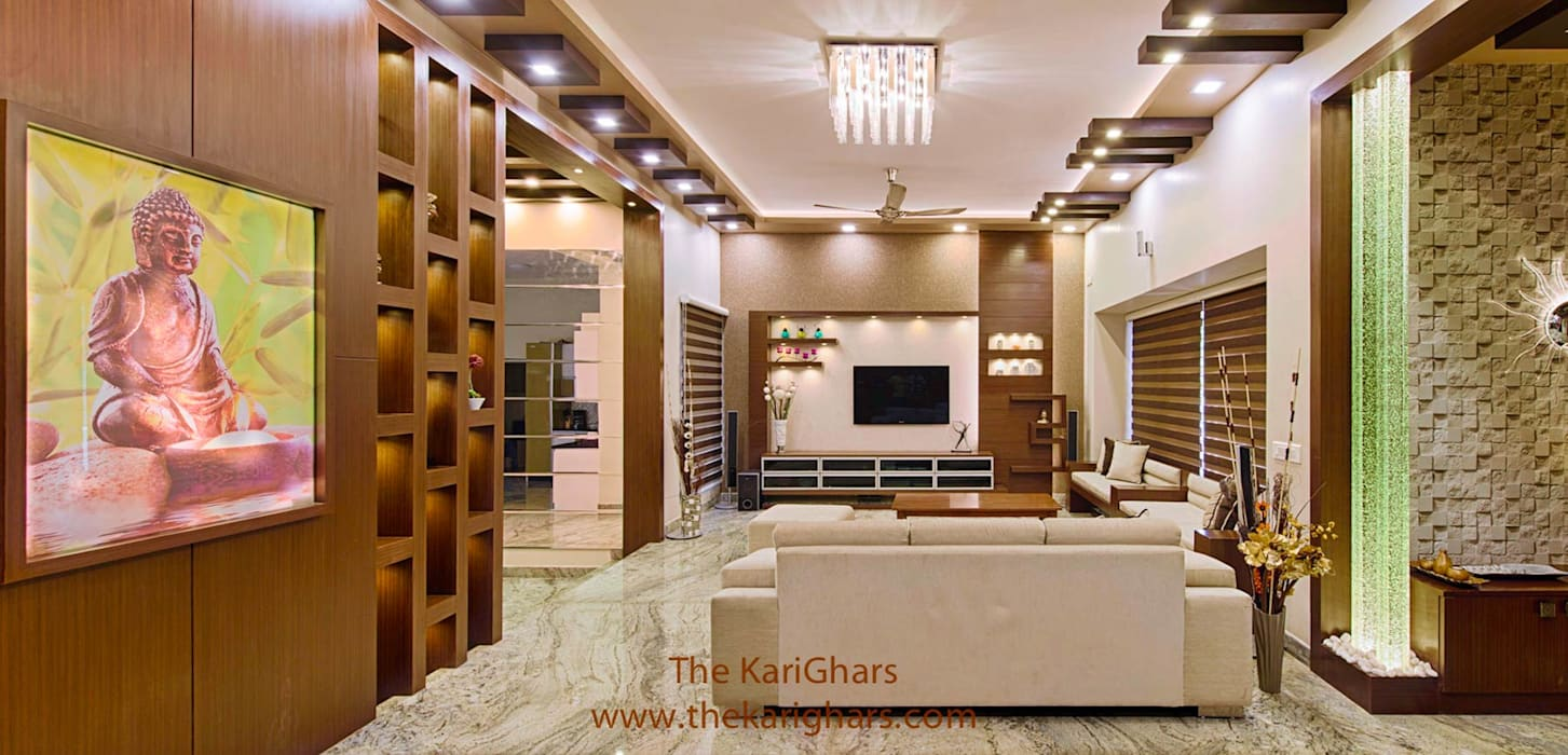 Living room designs:  Living room by The KariGhars,Modern