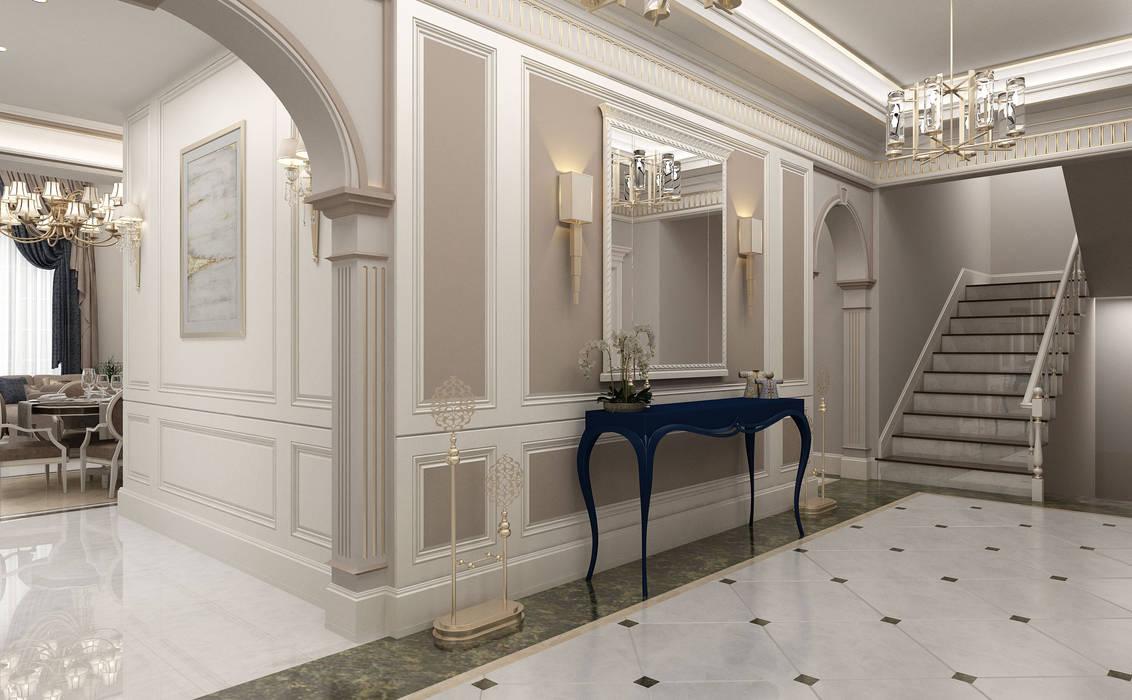 Sia Moore Archıtecture Interıor Desıgn – Hol - 2 / Bilgah Villa :  tarz Koridor ve Hol, Eklektik Mermer