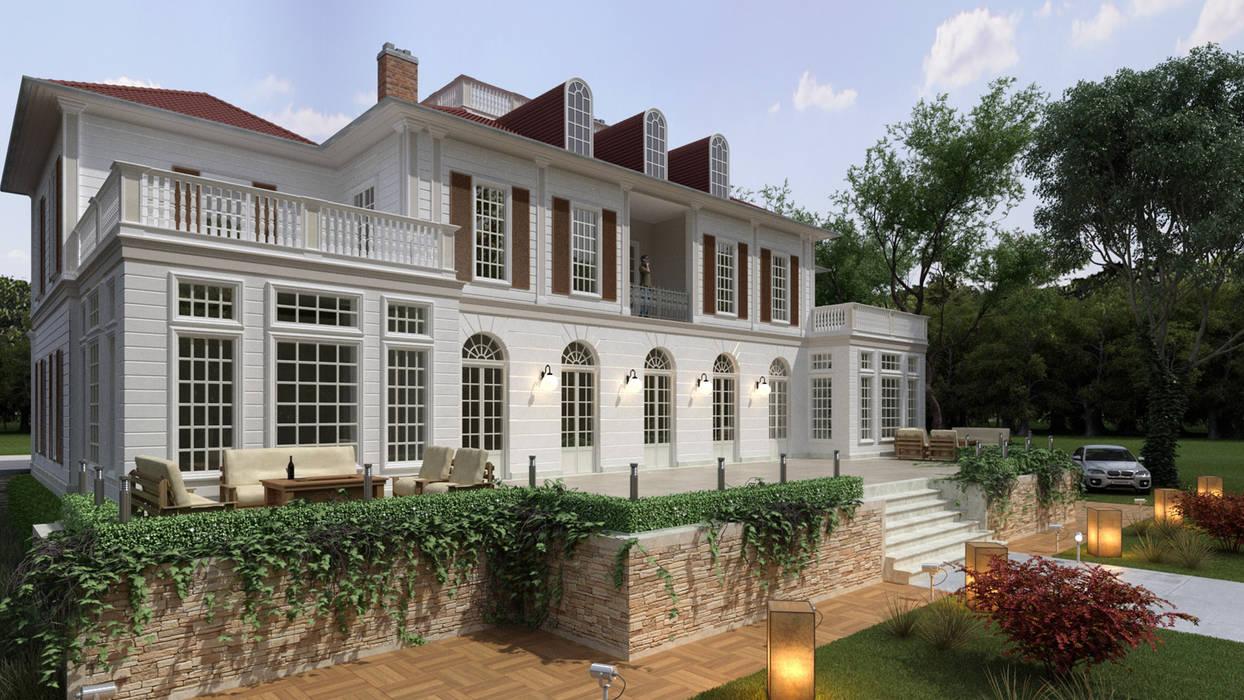 Villa oleh Sia Moore Archıtecture Interıor Desıgn, Eklektik Beton