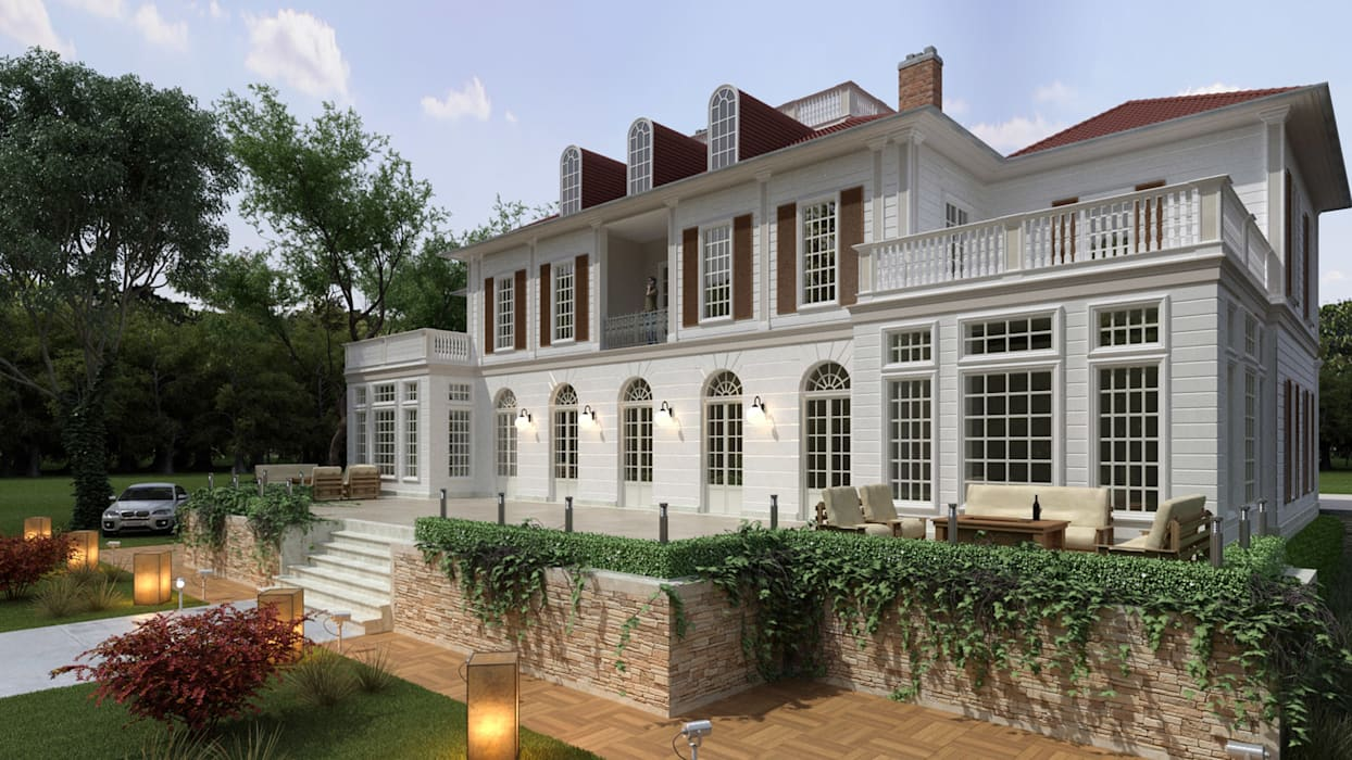 Facade - 2 / Private Villa Oleh Sia Moore Archıtecture Interıor Desıgn Eklektik Beton