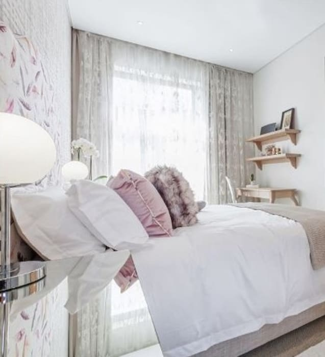 Dormitorios de estilo moderno de decormyplace Moderno Contrachapado