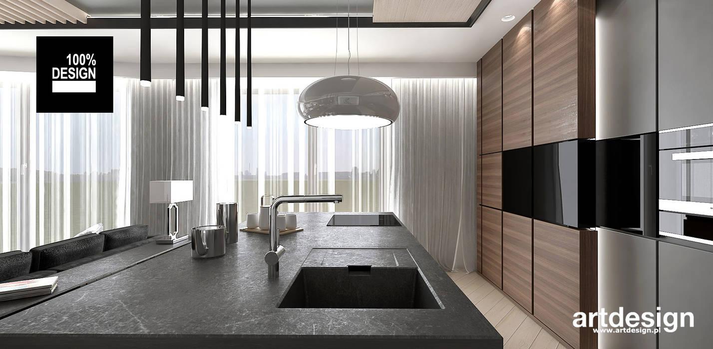 jak zaprojektować wygodną kuchnię: styl , w kategorii Kuchnia zaprojektowany przez ARTDESIGN architektura wnętrz,