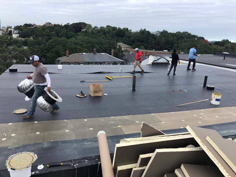 Commercial Roof Installation and Replacement by Boston Roofing and Gutters LLC Industrial