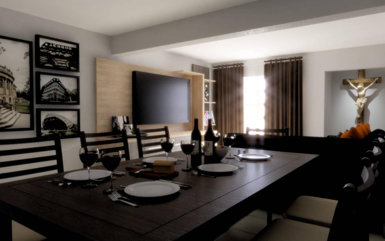 Modern Dining Room by Taller Trece Modern Wood Wood effect