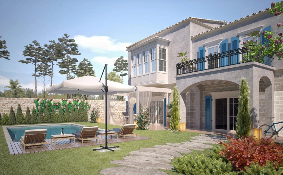 Facade -1 / Alaçatı Villa by Sia Moore Archıtecture Interıor Desıgn Mediterranean Concrete