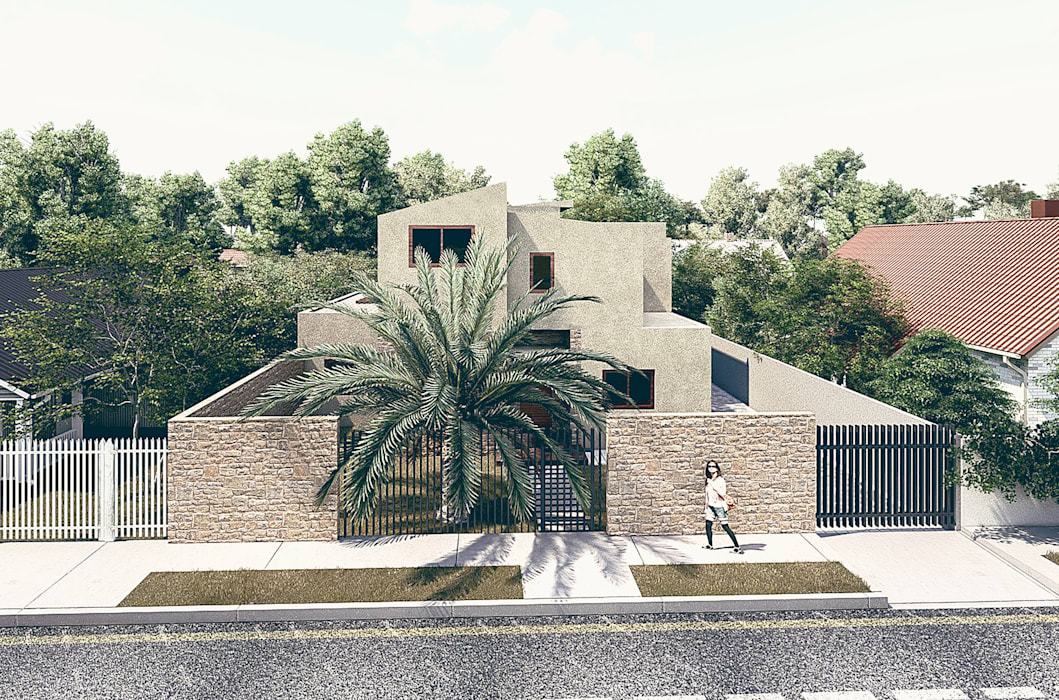 Fachada Principal RAS Arquitectos Antejardines