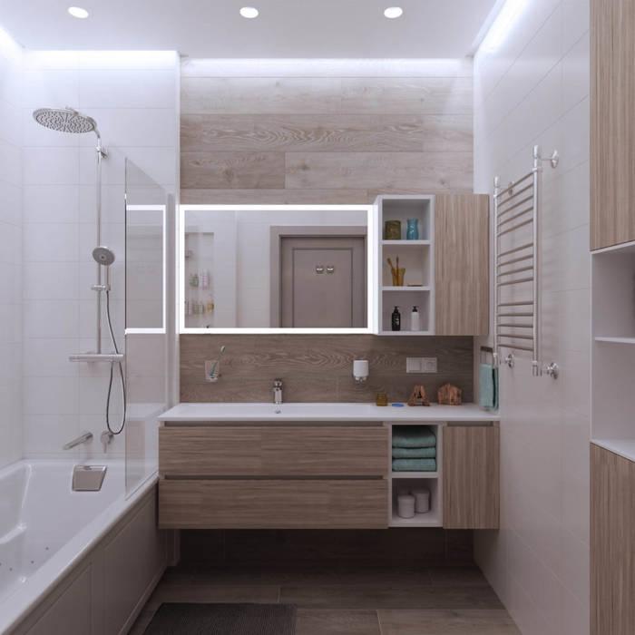 Квартира в ЖК «1147» : Ванные комнаты в . Автор – 'INTSTYLE'