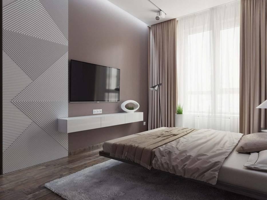 Квартира в ЖК «Кронштадтский» Спальня в скандинавском стиле от 'INTSTYLE' Скандинавский