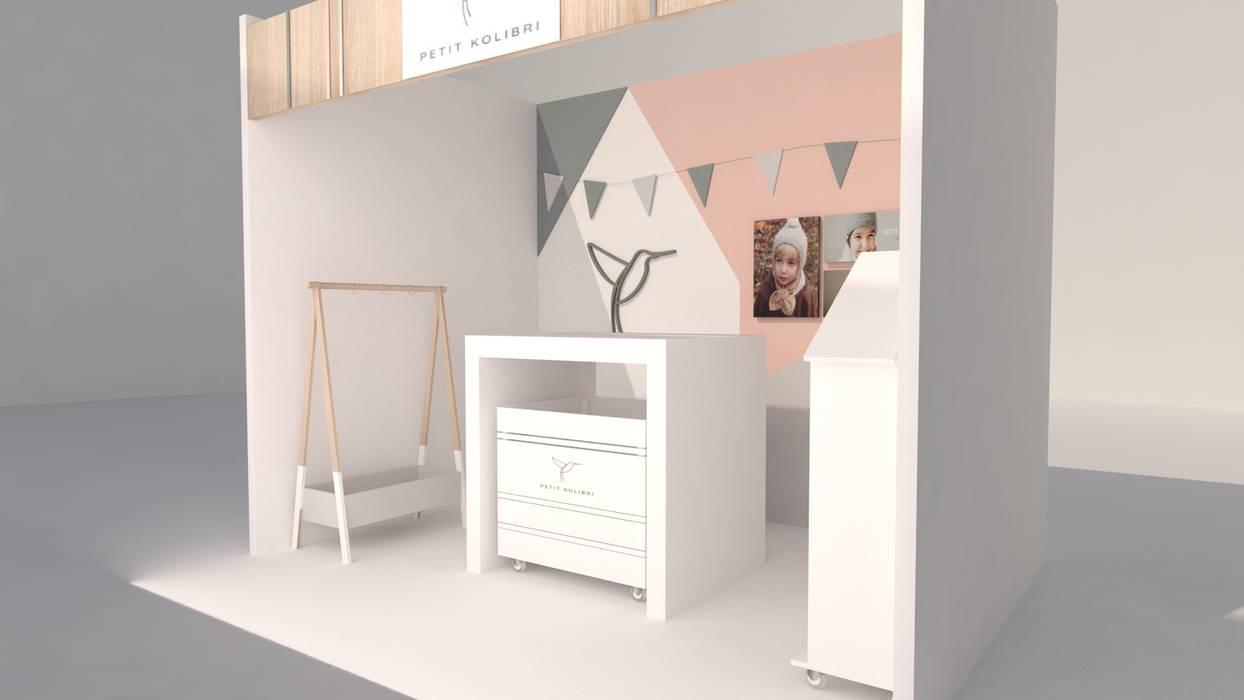 Estudios y bibliotecas de estilo minimalista de Kaizen diseño interior Minimalista Tablero DM