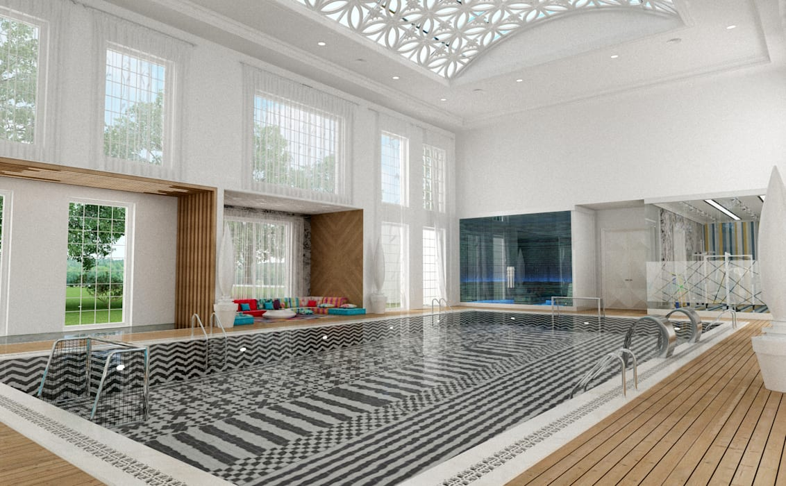 Pool Area - 1 / Club House โดย Sia Moore Archıtecture Interıor Desıgn ผสมผสาน เซรามิค