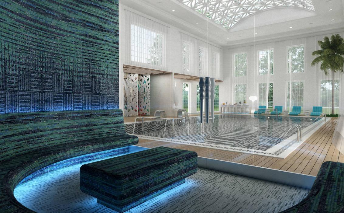 Pool Area - 5 / Club House توسط Sia Moore Archıtecture Interıor Desıgn اکلکتیک (ادغامی) سنگ مرمر
