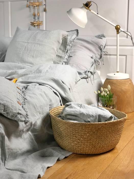 Lniane prześcieradło Pearl Grey: styl , w kategorii  zaprojektowany przez NatureBed