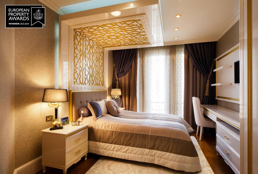 Sia Moore Archıtecture Interıor Desıgn – Misafir Yatak Oda / Bosphorus City Villa :  tarz Küçük Yatak Odası