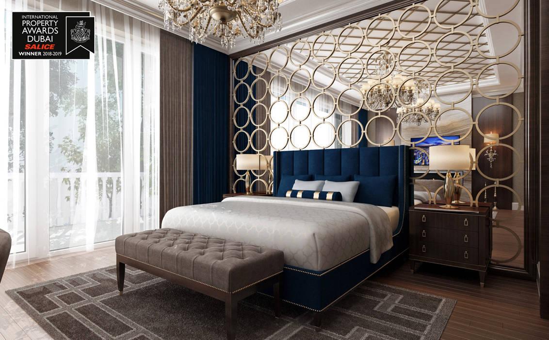 Sia Moore Archıtecture Interıor Desıgn – Ebeveyn Yatak Odası / Sitak Villa :  tarz Küçük Yatak Odası