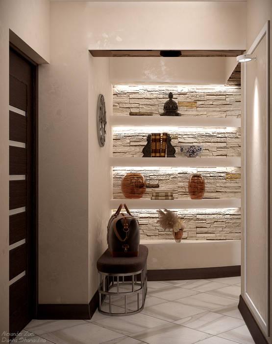 Corridor and hallway by Студия интерьерного дизайна happy.design, Modern