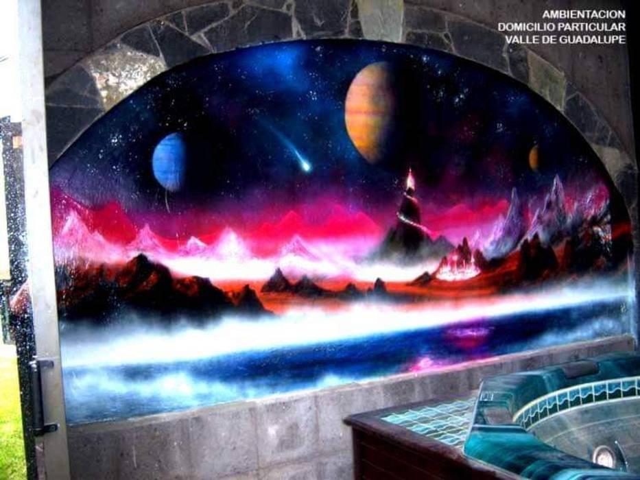 Mural pintado a mano de DD: ARTE, DISEÑO Y MURALISMO Moderno Hormigón