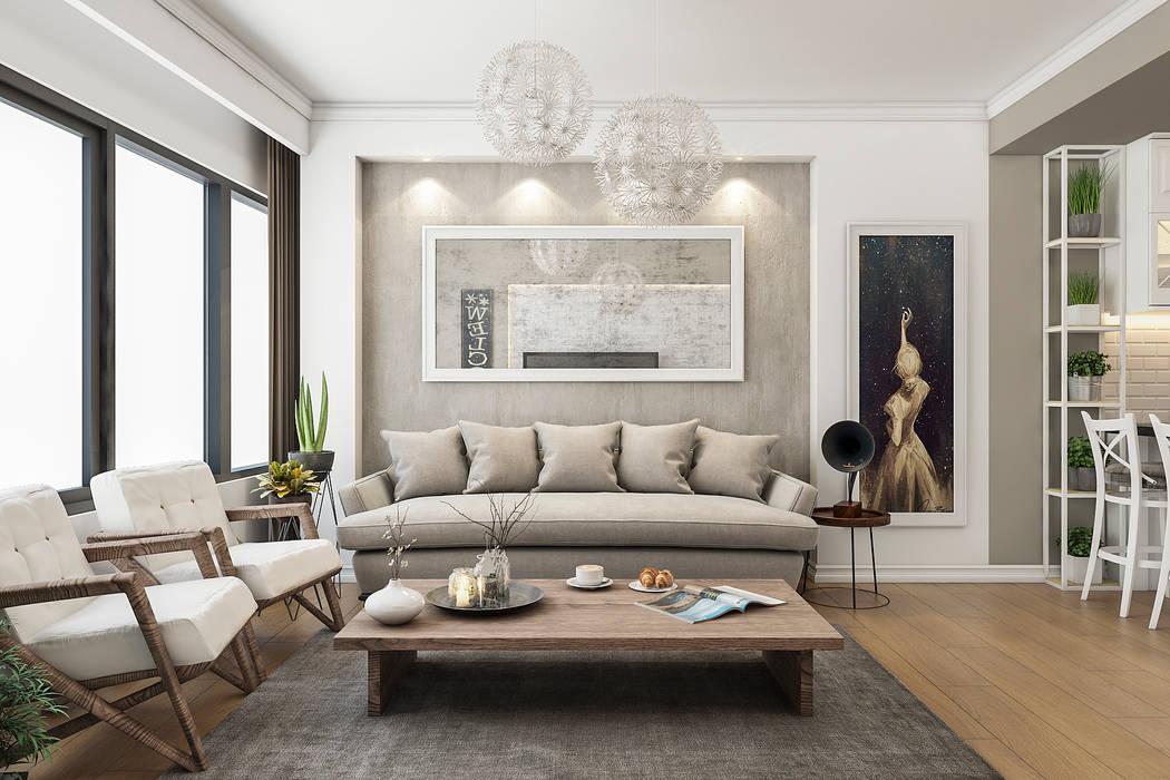 Living room by Beta İç Mimarlık,