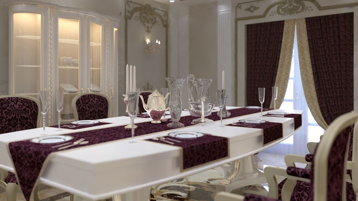 lifestyle_interiordesign Salle à manger classique Multicolore