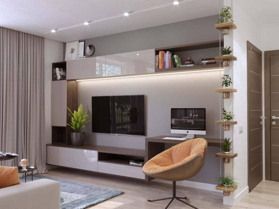 Salas de estar escandinavas por Студия дизайна 'INTSTYLE' Escandinavo