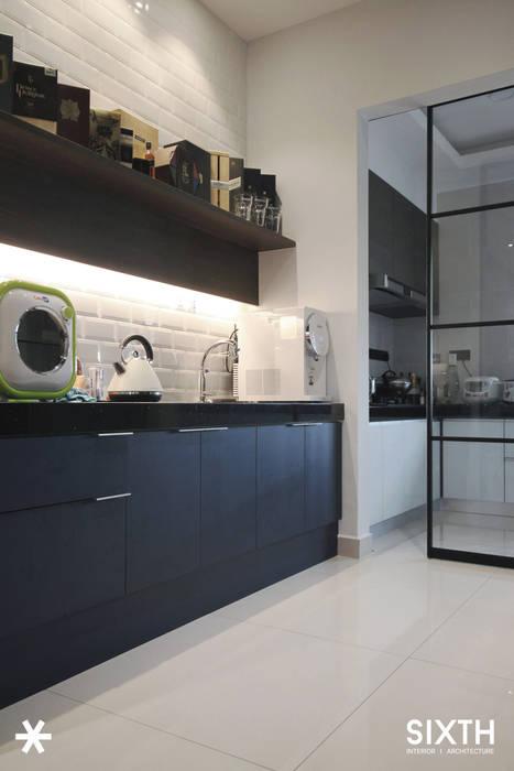 Project BO / IJM Rimbayu:  Kitchen by SIXTH Interior Sdn Bhd,