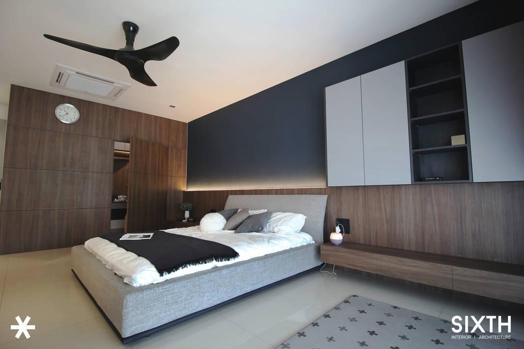 Project BO / IJM Rimbayu:  Bedroom by SIXTH Interior Sdn Bhd,