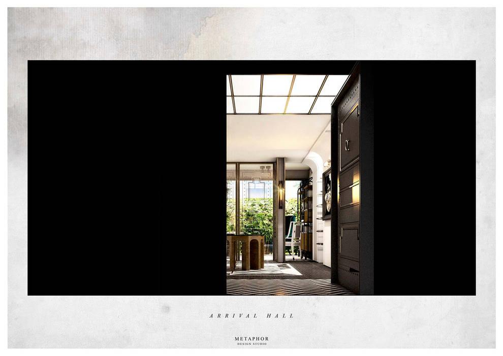 ทางเดินสไตล์คลาสสิกห้องโถงและบันได โดย Metaphor Design Studio คลาสสิค