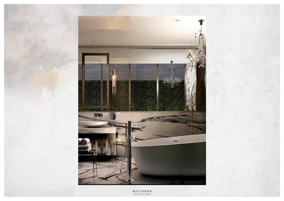 :  ห้องน้ำ โดย Metaphor Design Studio,